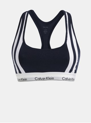 Bílo-modrá podprsenka Calvin Klein