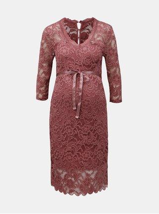 Ružové čipkované šaty Mama.licious Mivada