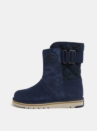 Tmavomodré dámske semišové zimné topánky SOREL Newbie