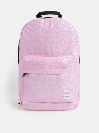 Ružový dámsky trblietavý batoh Spiral Core 18 l