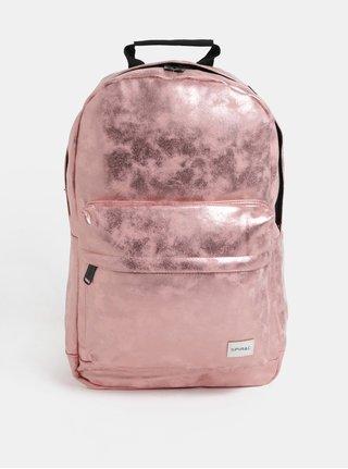 Ružovozlatý lesklý dámsky batoh Spiral Core 18 l