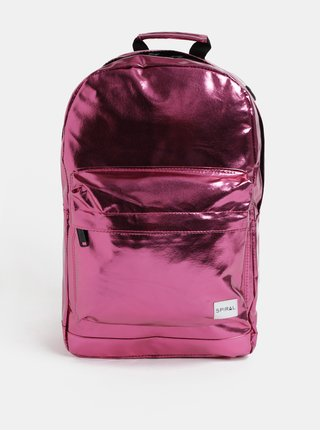 Rucsac de dama roz inchis lucios Spiral Platinum 18 l