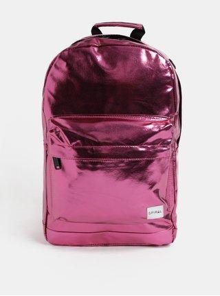 Tmavoružový dámsky lesklý batoh Spiral Platinum 18 l