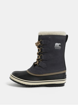 Tmavosivé dámske semišové zimné nepremokavé topánky SOREL 1964 Pac 2