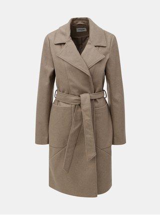 Béžový kabát na zaväzovanie Noisy May Dido