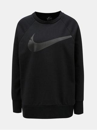 Bluza sport de dama neagra oversize cu imprimeu Nike Swoosh