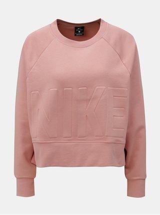 Bluza sport de dama crop roz oversize cu taieturi Nike Versa