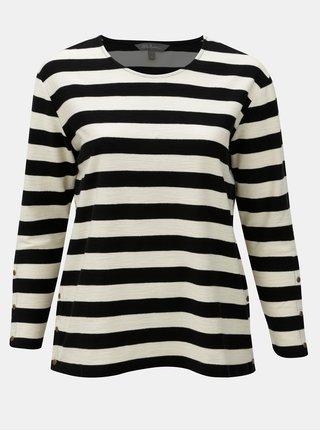Bluza sport crem-negru in dungi Ulla Popken