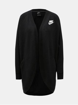 Cardigan de dama sport negru cu buzunare Nike Rally