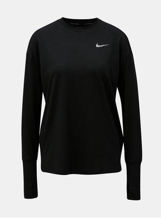 Čierne dámske funkčné tričko s dlhým rukávom Nike