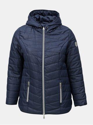 Modrá prešívaná zimná bunda Ulla Popken