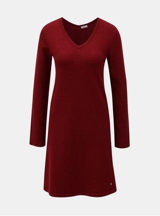 Vínové svetrové šaty Yerse