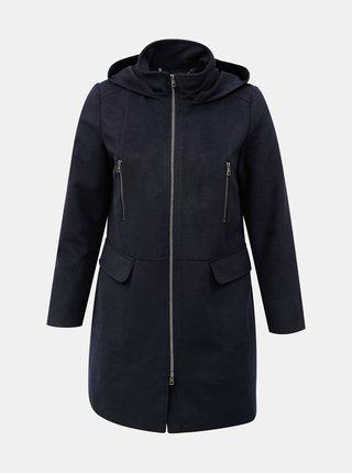 Tmavomodrý kabát s kapucňou Ulla Popken