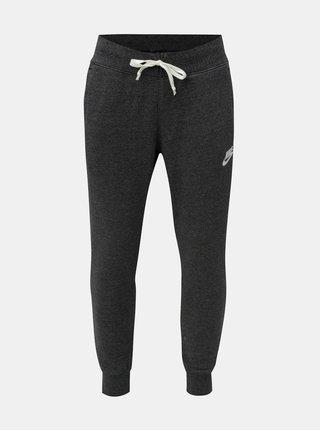 Pantaloni sport barbatesti gri inchis melanj cu buzunare Nike Heritage
