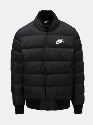 Čierna pánska prešívaná páperová bunda Nike Fill