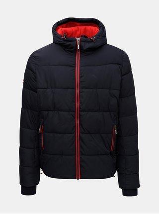 Tmavomodrá pánska zimná bunda Superdry
