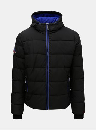 Čierna pánska zimná bunda Superdry