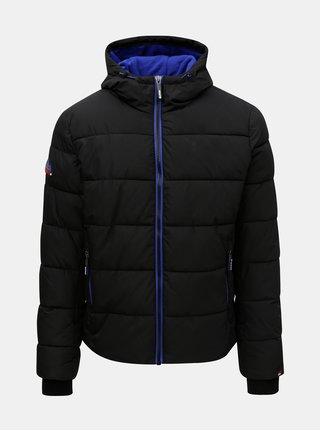 Jacheta barbateasca de iarna neagra Superdry