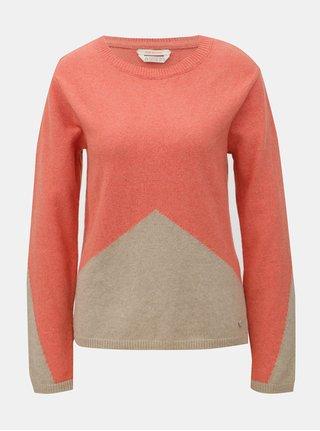 Hnedo–oranžový vlnený sveter SKFK Ergoiem