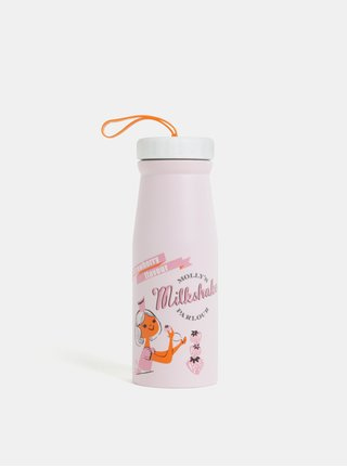 Růžová termoska s potiskem Disaster 350 ml