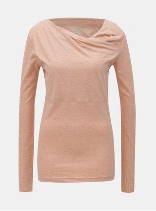 Tricou roz deschis melanj cu maneci lungi SKFK Bi