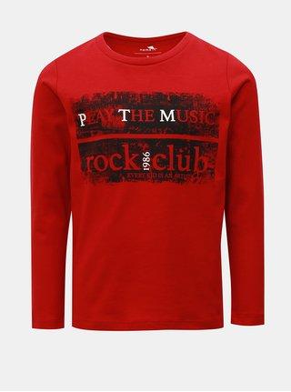 Červené klučičí tričko s dlouhým rukávem Name it Morlando