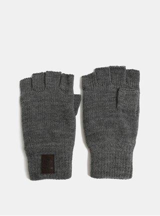Sivé bezprstové rukavice s fleecovou vnútornou časťou ONLY & SONS Clas