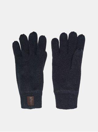 Tmavomodré rukavice s nášivkou ONLY & SONS Clas