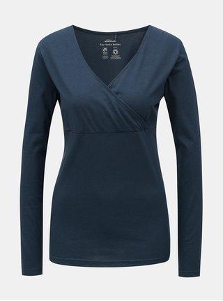 Tricou albastru inchis cu decolteu suprapus SKFK Hamazortzi