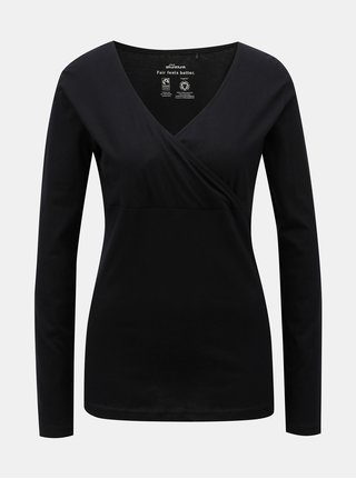 Tricou negru cu decolteu suprapus SKFK Hamazortzi