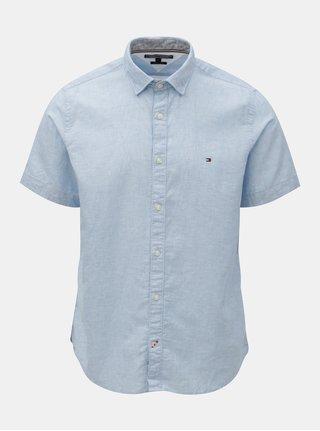 Modrá pánská košile s příměsí lnu Tommy Hilfiger 5f2fd12607