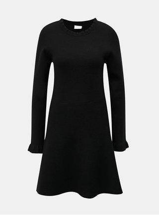 Rochie neagra tricotata cu maneci lungi VILA Livnia