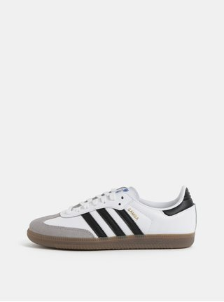 Biele dámske kožené tenisky adidas Originals Samba