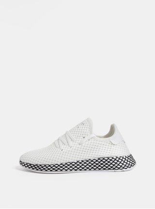 Tenisi barbatesti albi din plasa adidas Originals Deerupt Runner