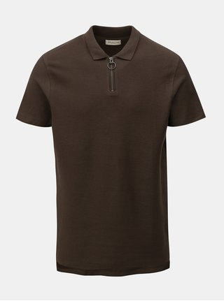 Tricou polo kaki Selected Homme