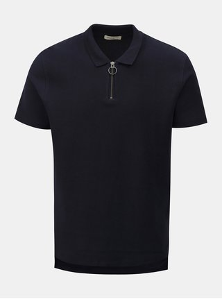 Tricou polo albastru inchis Selected Homme