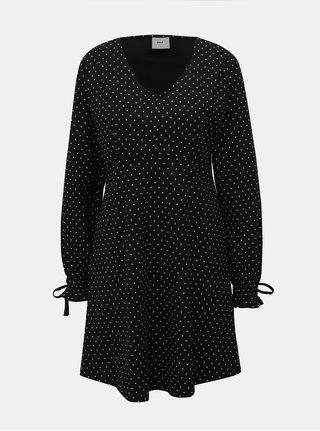 Čierne vzorované šaty na dojčenie Mama.licious