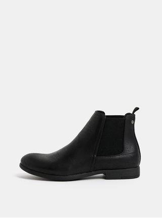 Černé pánské chelsea boty Jack & Jones Wabbott