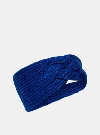 Modrá pletená čelenka ONLY