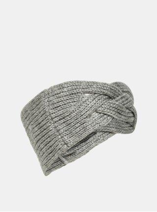 Sivá pletená čelenka ONLY