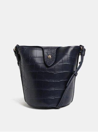 Tmavě modrá malá kabelka s krokodýlím vzorem VERO MODA Lira