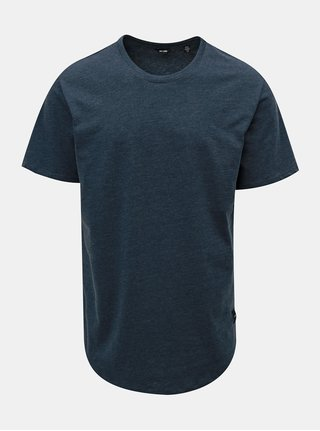 Tricou albastru melanj basic ONLY & SONS Matt