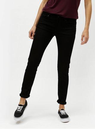 Černé dámské stálobarevné slim džíny s nízkým pasem Kings of Indigo Juno
