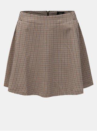 Béžová kockovaná sukňa ONLY Rosaria