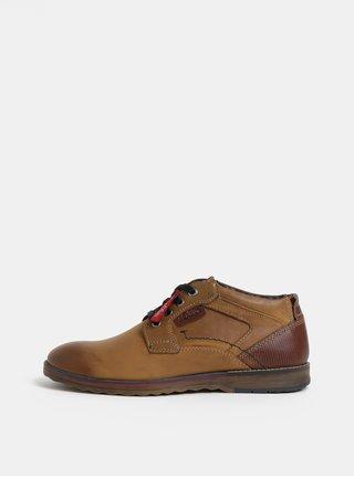 Hnědé pánské kožené boty  s.Oliver