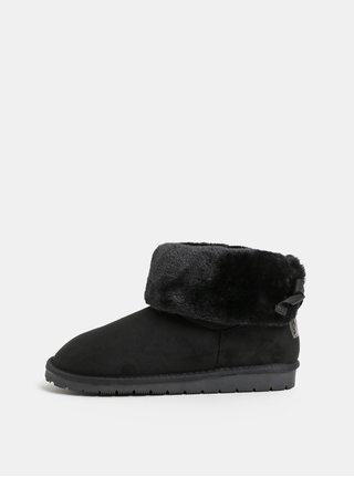 Čierne dámske zimné čižmy v semišovej úprave s.Oliver