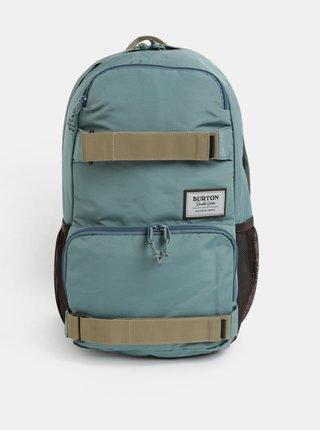 Hnedo-zelený batoh s nášivkou Burton 21 l