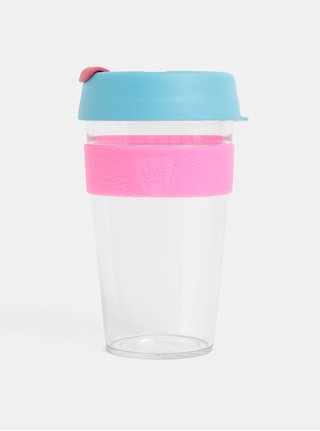 Cana roz-albastru de calatorie KeepCup Original large 454 ml