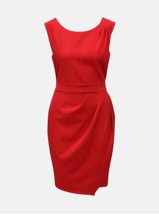 Červené šaty se zavazováním Apricot