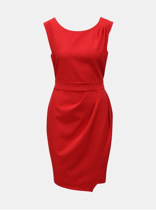 Červené šaty so zaväzovaním Apricot